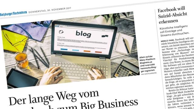 Salzburger Nachrichten: Wie man einen eigenen Blog aufzieht