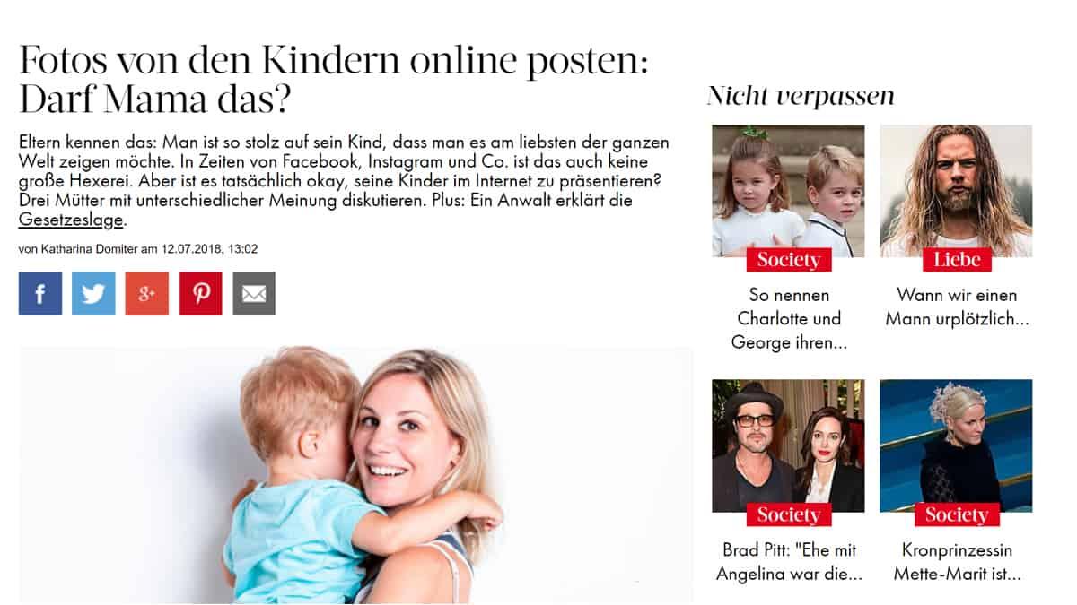WOMAN: Das Internet vergisst nie! Auch Kinderfotos nicht.