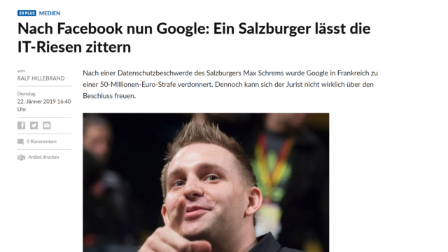 Salzburger Datenschützer die IT-Riesen zittern