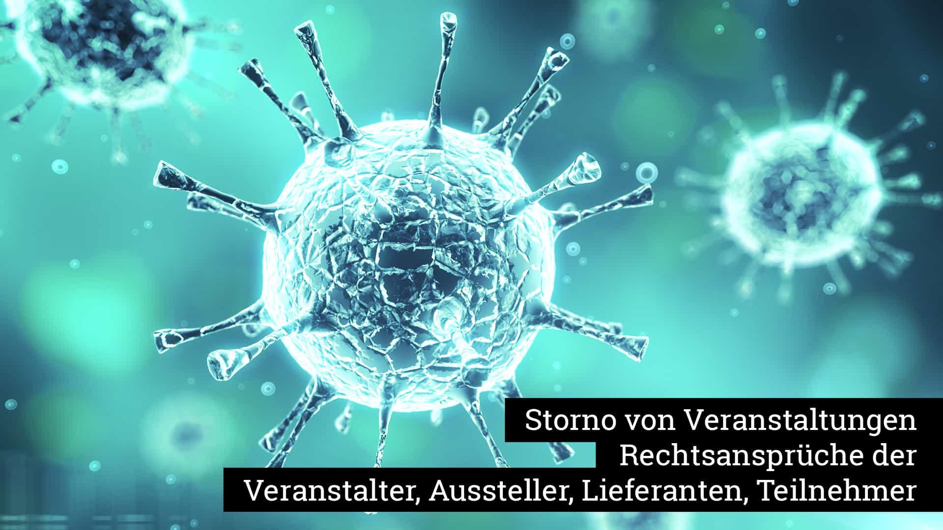 Storno von Veranstaltungen aufgrund des Corona-Virus